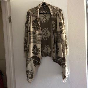 Aztec pattern Windsor cardigan